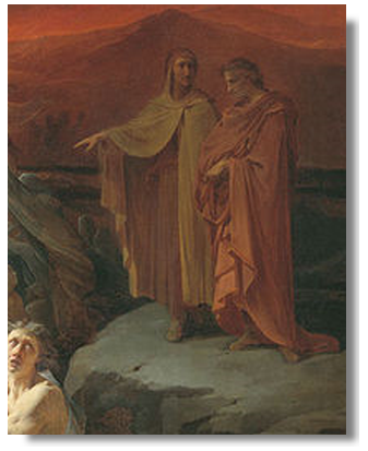 why does virgil guide dante through hell and purgatory