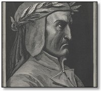 Portrait of the author Dante Alighieri